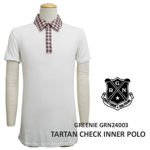 GREENIE[グリーニー]タータンチェックインナーポロ