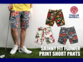 【SALE50%OFF】FRANKLIN &MARSHALL(フランクリンマーシャル)スキニーフィット花柄ショートパンツ
