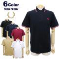 FRED PERRY[フレッドペリー]M12Nティップライン鹿の子ポロシャツ(Made in England) 【定番】