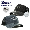NEW ERA GOLF[ニューエラゴルフ] 9FORTY A-Frame Washed Duck / ロゴメッシュキャップ【2017年秋冬】