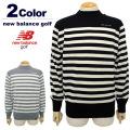 new balance golf[ニューバランスゴルフ]パネルボーダーモックネックニット【2017秋冬】