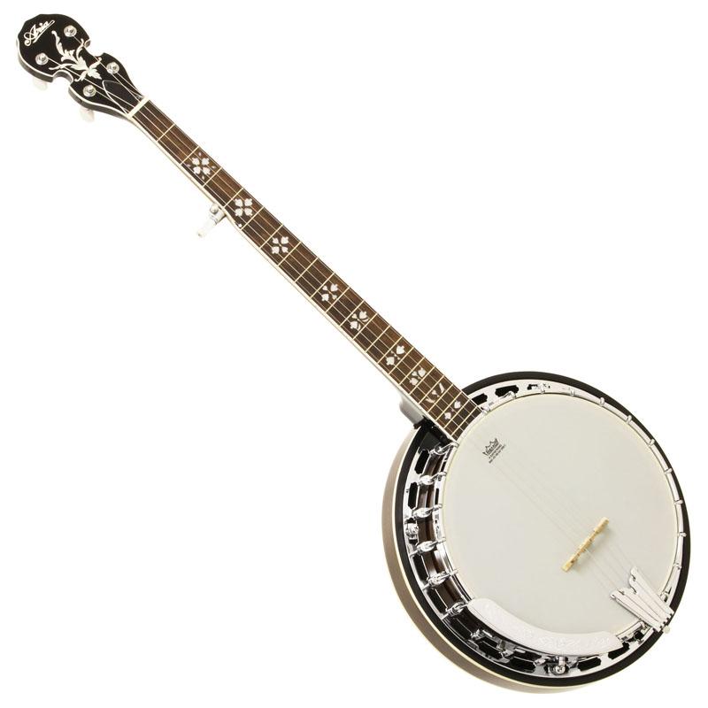 Aria SB-40 5弦バンジョー  ハードケース付き 【お取り寄せ商品】 マイク搭載アンプに繋げる エレキバンジョー Banjo