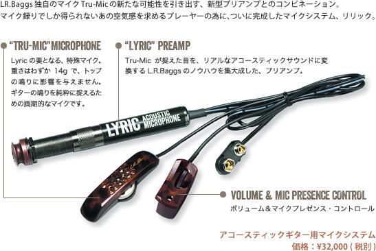 L.R.Baggs Lyric 本体未加工 取付無料アコースティックギター用マイク アコギピックアップ リリック