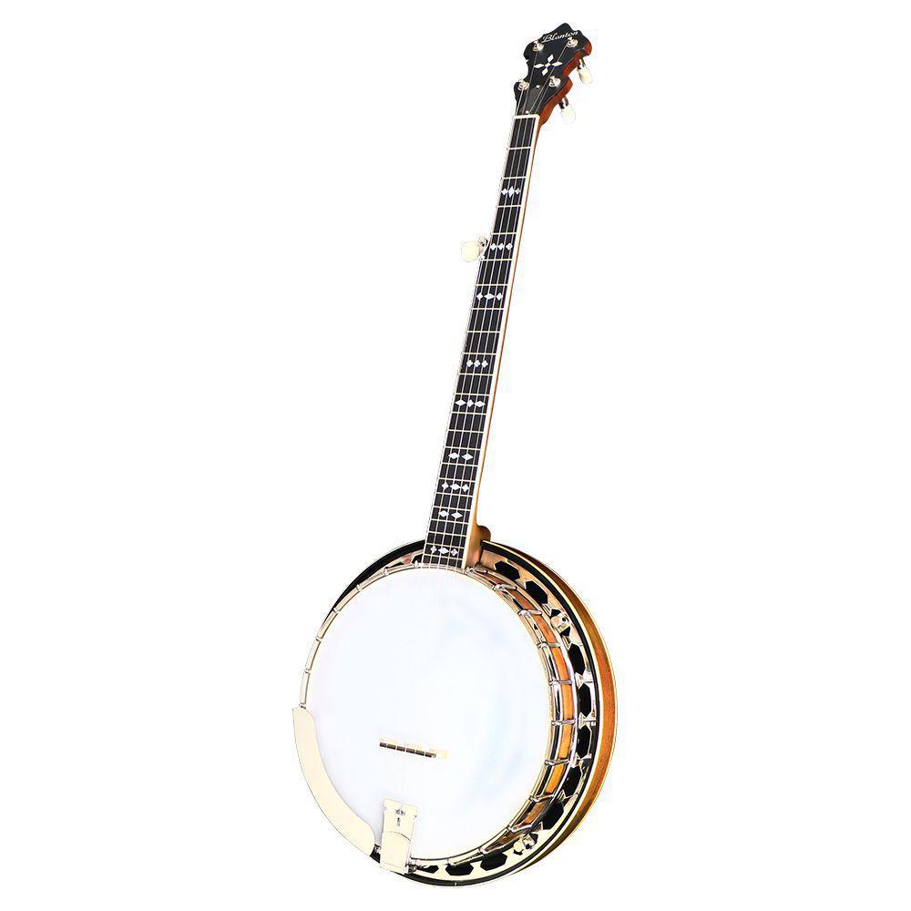 Blanton BB-85R 5弦バンジョー クギ打ち済み マイク搭載 アンプに繋げる エレキバンジョー Banjo 【 ブラントン BB85R  】