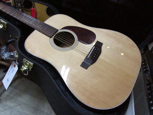【要在庫確認】 K.Yairi MYW-65-12 12弦ギター マイク搭載 アンプに繋げる PICKUP付 【 Kヤイリ 12 Strings PU搭載 】