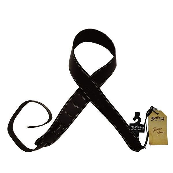 MARTIN 18A0045 Leather STRAP 縦ロゴ マーチン 本革ギターストラップ ブラウン