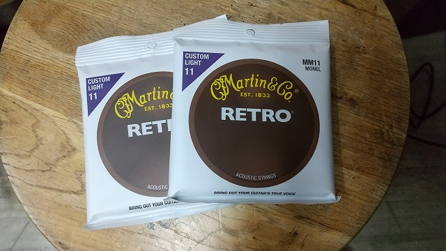 MARTIN MM11 Retro カスタムライト 011 Custom Light弦 マーチン アコギ弦 2セット ノンコーティング 長持ち弦
