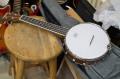 PLAYTECH Banjo Ukulele 本体調整済み コンサートサイズ バンジョー ウクレレ  マイク搭載も!