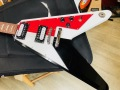 DEAN Michael Schenker Festival Flying V model  - RED BLACK WHITE-  MS FEST V ディーン 変形ギター マイケルシェンカーモデル フライング V MODEL