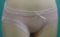 「[le miaou]キャッツ」 #5670 洗える レーヨン シルク ショーツM  ピンク