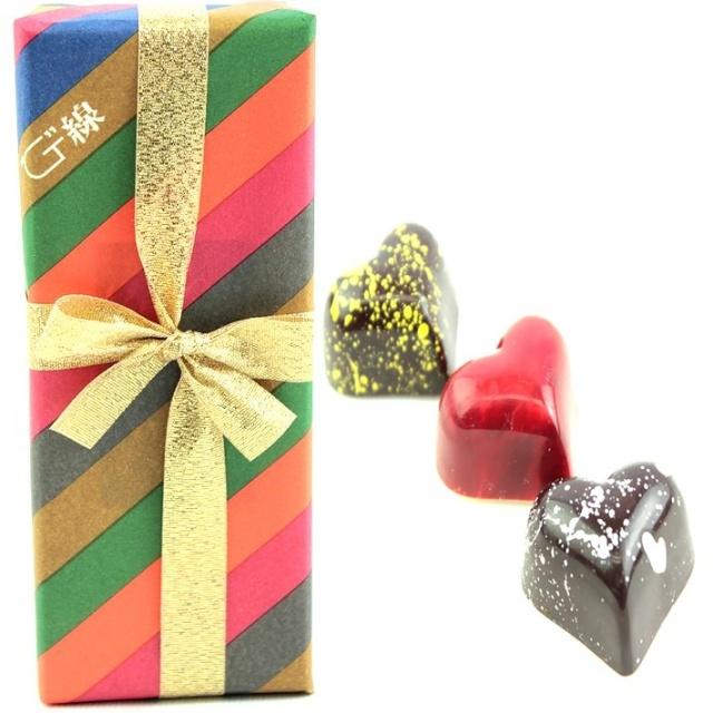 バレンタインチョコレート 神戸スイーツ G線コンフェクト 神戸G線の手作りちょこ3個入(柚子・苺・地酒)