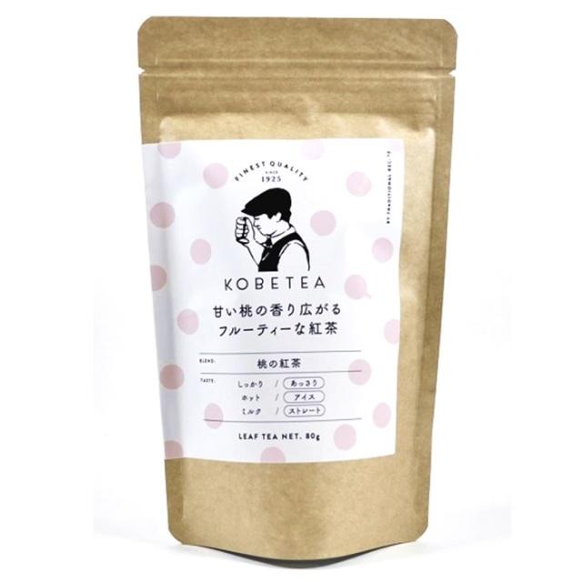 神戸土産 神戸紅茶 鑑定士セレクションリーフ KSL 桃の紅茶80g