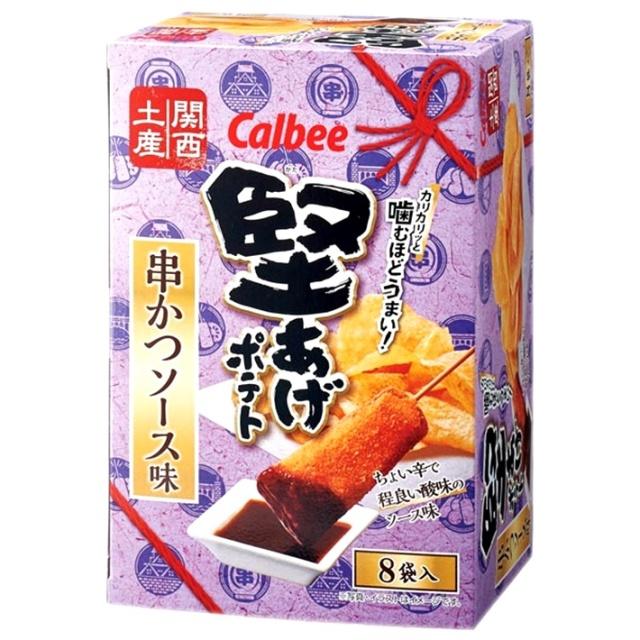 関西土産 カルビー堅あげポテト 串かつソース味 8袋入