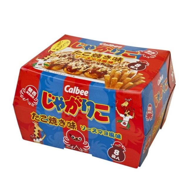 関西限定 カルビーじゃがりこ たこ焼き味 ソースマヨ風味 8袋入  ご当地限定土産 スナック菓子 おつまみ 米菓 おみやげ