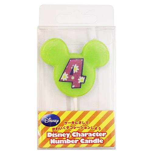 ディズニー ナンバーキャンドル No.4