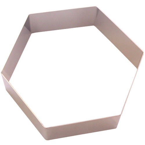 ステン アルゴン六角セルクル 18cm H4cm