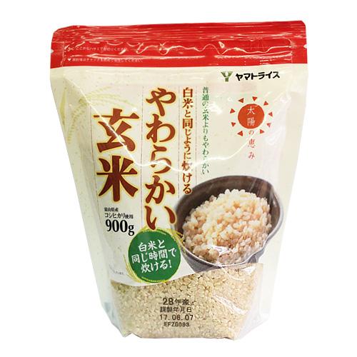 ヤマトライス 白米と同じように炊けるやわらかい玄米 900g