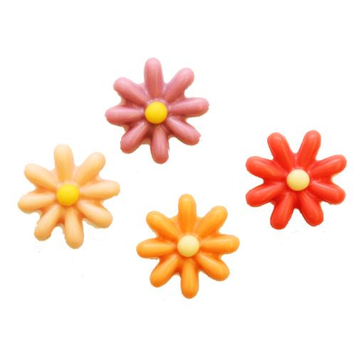 チョコフラワー 【レッド・ピンク・オレンジ・パープル】各色3入、計12個入