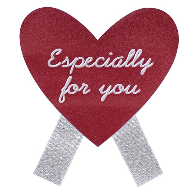 【シール】エスペシャリーハート型リボンシール 4枚 / ラッピング バレンタイン【メール便可】