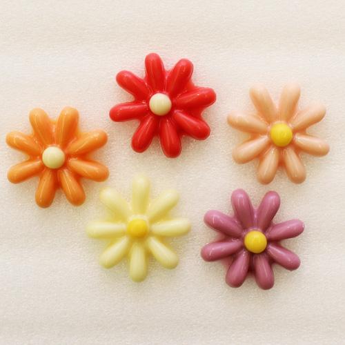 チョコフラワー 【レッド・ピンク・オレンジ・パープル・ホワイト】各色3入、計15個入