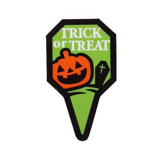 ハロウィン ケーキピック Trick or Treat 1枚 【メール便可】