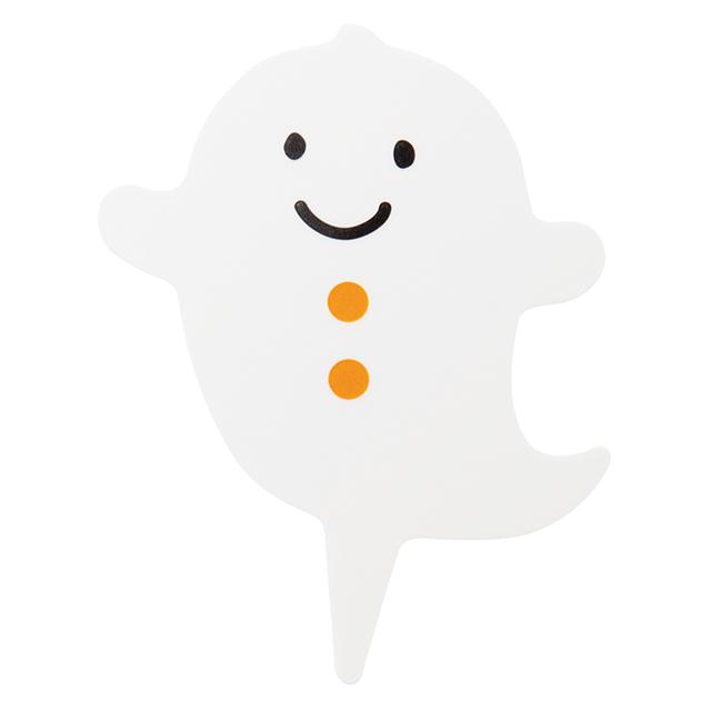ハロウィン おばけピック 1枚   【メール便可】