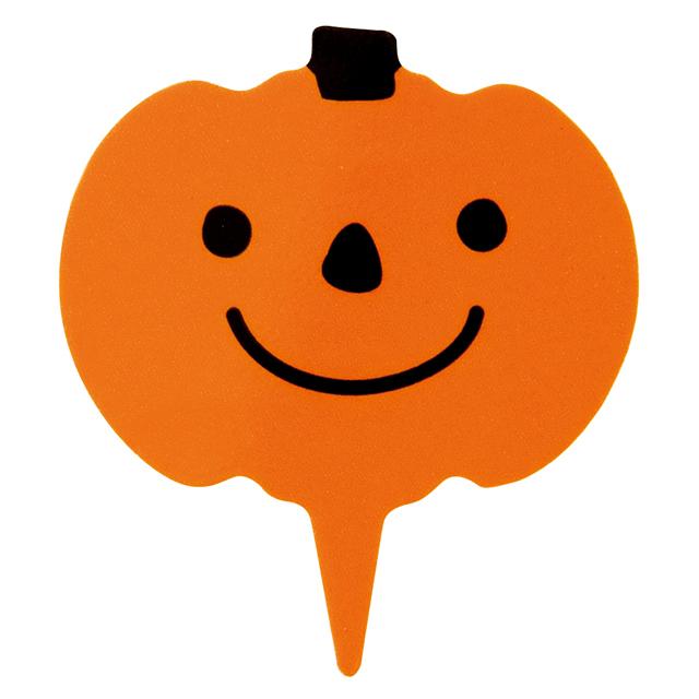 ハロウィン かぼちゃピック 1枚   【メール便可】