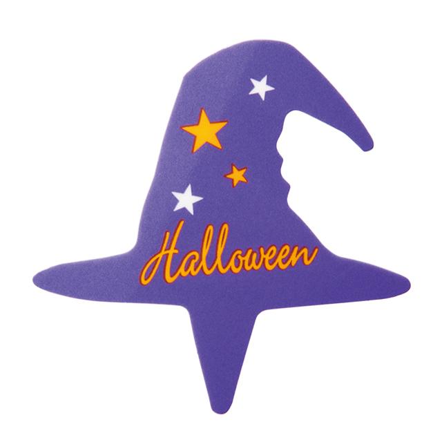 ハロウィン パープル帽子ピック 1枚  【メール便可】