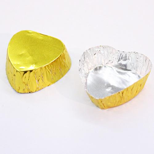 ハートチョコ豆カップ ゴールド 20枚入