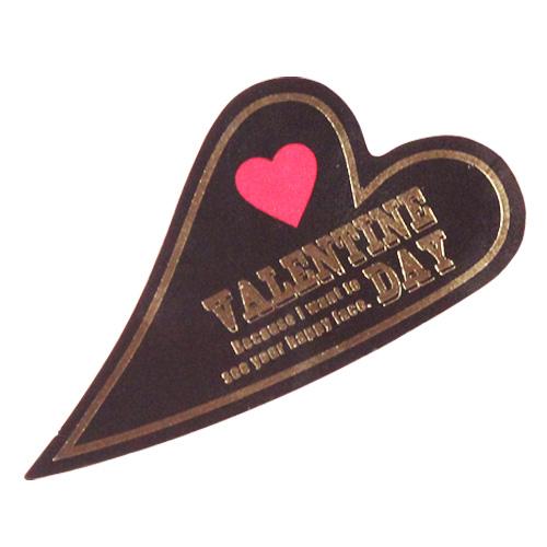 バレンタインケーキピック ヴィンテージハート 1枚 【メール便可】