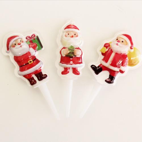 ソフトサンタセット (大) 3個入 【6点までメール便可】 / クリスマス ピック オーナメント