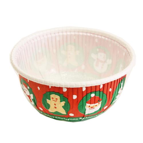 ラウンドカップ  クリスマスボール 10入 / 焼成カップ