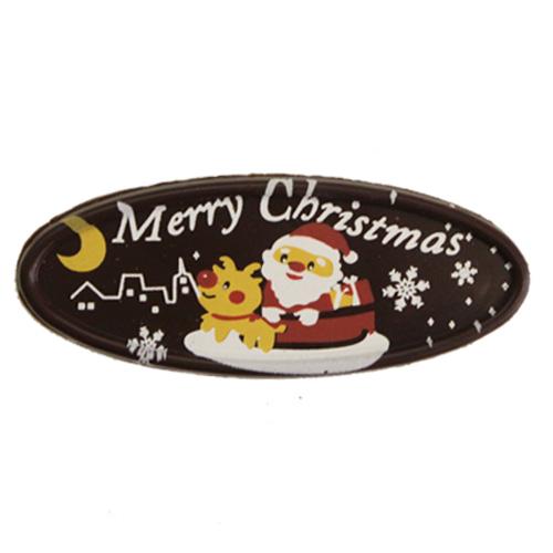 XP-01 夜のクリスマス 1個  / クリスマス チョコプレート オーナメント