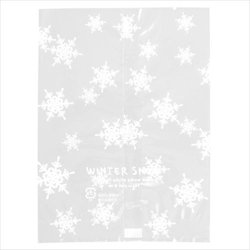 ウィンタースノークリアバッグ 小 10枚入り【メール便可】 / クリスマス ラッピング 袋