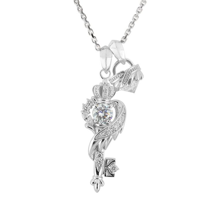 受注生産(オーダー)【DUB Collection│ダブコレクション】桜井莉菜 model Wing Key Stone Necklace ウィングキーストーンネックレス DUB-C051-1/DUB-C052-1(WH)【さくりなコラボ】