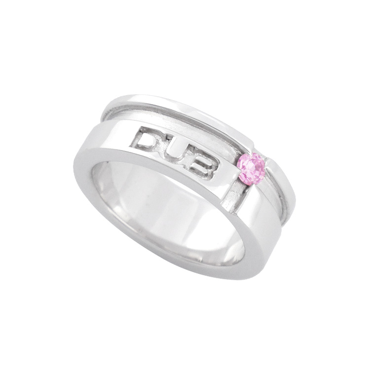 【DUB collection|ダブコレクション】mat line cross ring(lady's) DUBj-158-1(PK)【レディース】