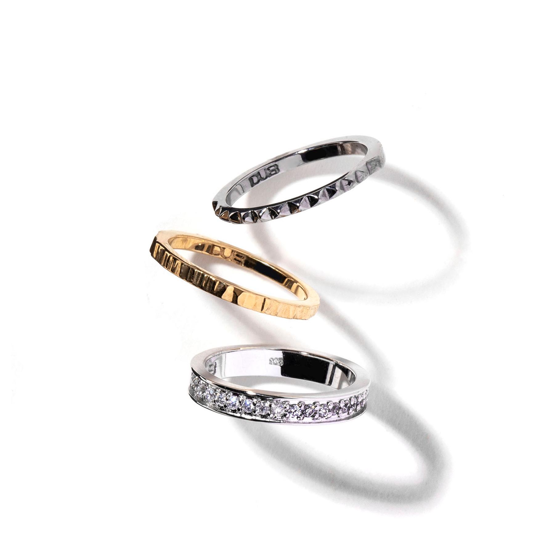 受注生産(オーダー)【DUB collection|ダブコレクション】Trinity Ring トリニティリング DUBj-386-1【ユニセックス】