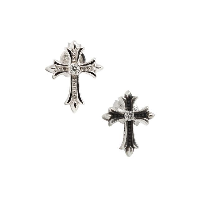 受注生産(オーダー)【DUB Collection│ダブコレクション】 Slender Cross Pierced スレンダークロスピアス DUBj-357