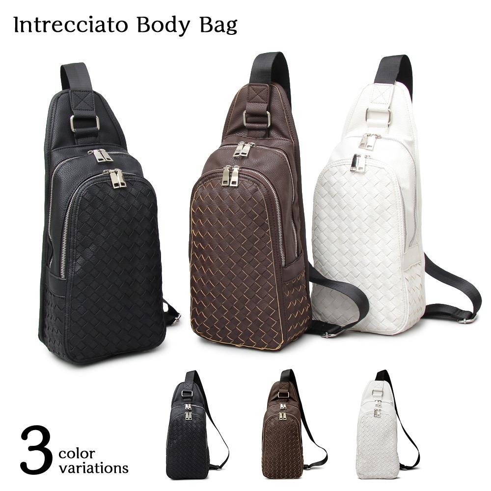 Intrecciato Body Bag イントレチャートボディバッグ 【ユニセックス】