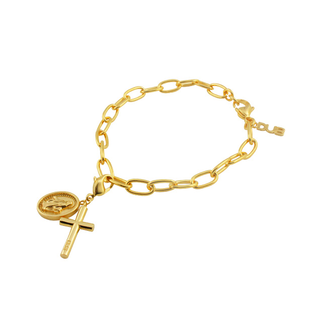 【DUB Collection】KAZUE model Cross Charm Bracelet クロスチャームブレスレット DUB-C061-2【KAZUEコラボ】【男女兼用】
