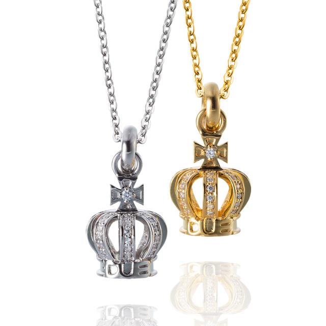 納期約1ヶ月~1ヶ月半【DUB collection|ダブコレクション】Tiny Crown Necklace タイニークラウン ネックレス DUBj-264-Pair【ペア】