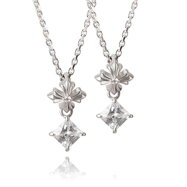 受注生産(オーダー)【DUB Collection|ダブコレクション】Swing Stone Necklace スウィングストーンネックレス DUBj-278-Pair【ペア】