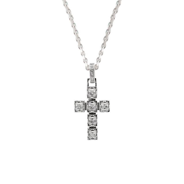【納期約1ヶ月~1ヶ月半】【DUB collection|ダブコレクション】Crown Cross Necklace クラウン クロス ネックレス DUBj-289-2【ユニセックス】