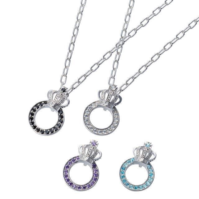 【DUB Collection│ダブコレクション】Crown ring Pair Necklace クラウンリングペアネックレス DUBj-296-Pair【ペア】