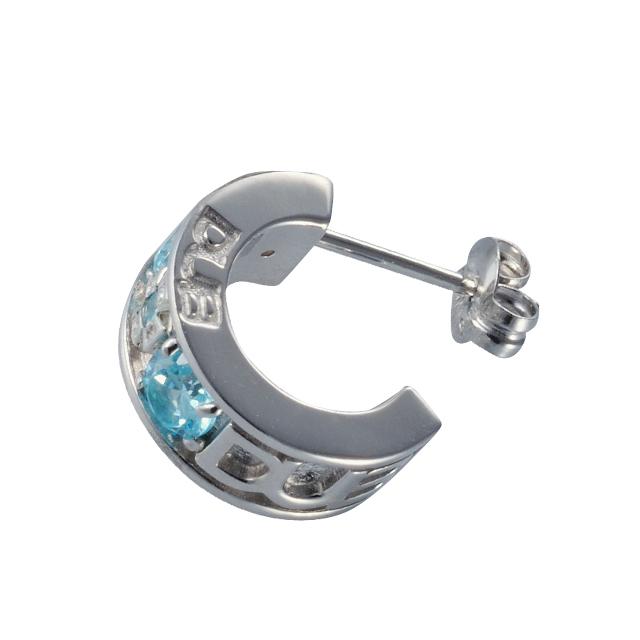 【DUB Collection│ダブコレクション】Small cross Pierced スモールクロスピアス(アクアブルー) DUBj-299-2【ユニセックス】