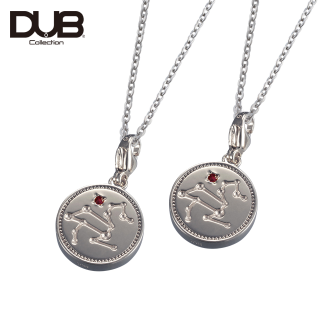 【DUB Collection│ダブコレクション】Constellation Pair Necklace コンステレーションペアネックレス DUBj-318-1Pair(SV)【ペア】【12星座/星座石】