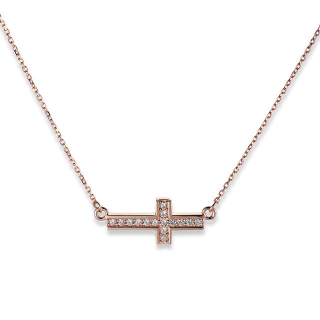 即日発送アイテム【DUB公式通販サイト限定】Side Cross Necklace サイドクロスネックレス DUBjt-11【レディース】