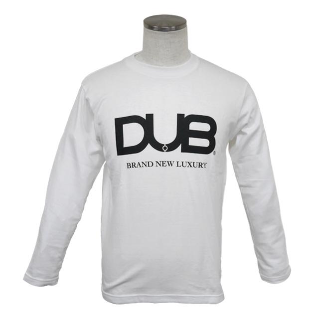 即日発送アイテム【DUB collection|ダブコレクション】DUBロングTシャツ ロゴ DUBt-03WH【メンズ】