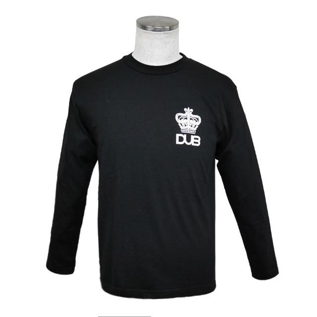 即日発送アイテム【DUB collection|ダブコレクション】DUBロングTシャツ クラウン DUBt-04BK【メンズ】