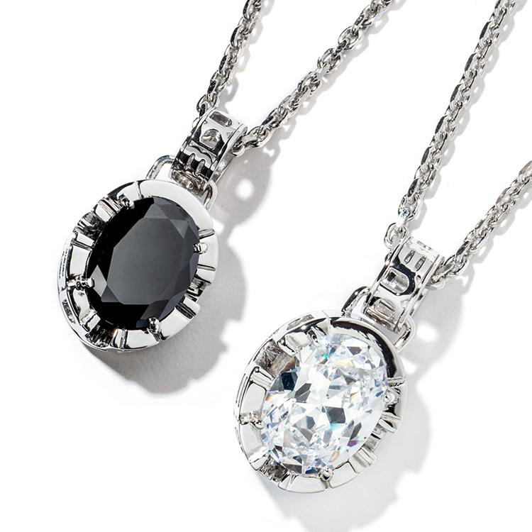 受注生産(オーダー)【DUB collection|ダブコレクション】Side Emblem Stone Pair Necklace サイド エンブレム ストーン ペア ネックレス DUBj-180-pair【ペア】